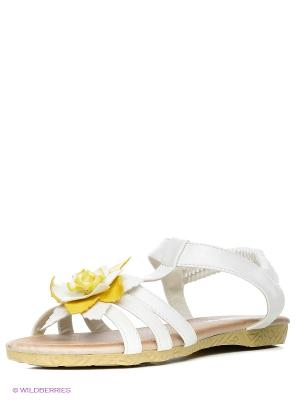 Сандалии Amazonga. Цвет: белый
