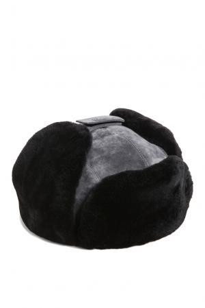 Замшевая шапка с отделкой из меха шиншиллы 159462 Zilli. Цвет: разноцветный