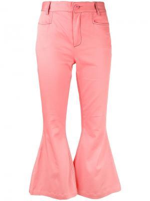 Расклешенные укороченные брюки  LAutre Chose L'Autre. Цвет: розовый и фиолетовый