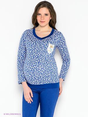 Пуловер EUROMAMA. Цвет: синий, белый