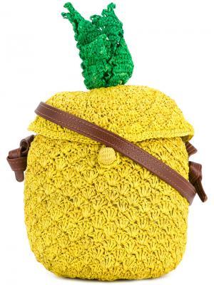 Pineapple woven bag Sensi Studio. Цвет: жёлтый и оранжевый