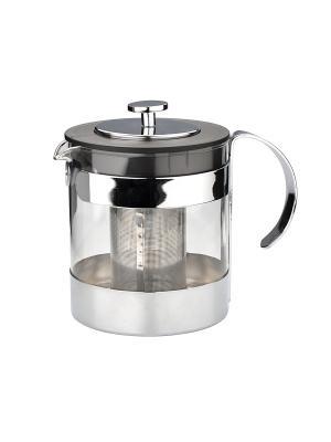 Чайник заварочный 1,2Л DEKOK. Цвет: серый