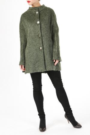 Пальто DONNA ENRICA. Цвет: зеленый