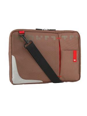 Сумка для ноутбука crown cmsbg-4410bn (genuine series) brown 10,2. Цвет: коричневый