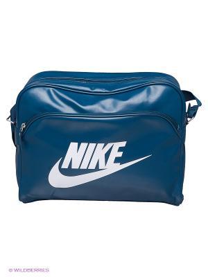 Сумка HERITAGE SI TRACK BAG Nike. Цвет: морская волна