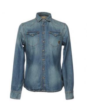 Джинсовая рубашка UNIFORM. Цвет: синий