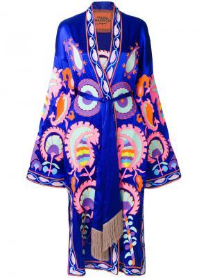 Платье с запахом и вышивкой Delight Yuliya Magdych. Цвет: многоцветный