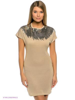 Платье Baon. Цвет: золотистый, светло-бежевый