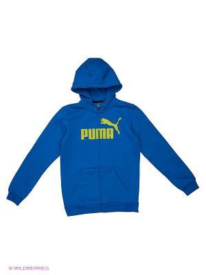 Толстовка ESS No.1 FZ Hoody, FL Puma. Цвет: синий