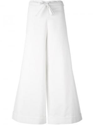 Широкие брюки Daniela Gregis. Цвет: телесный
