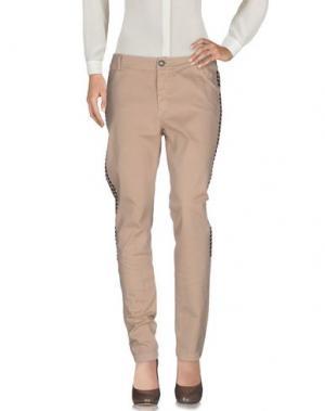 Повседневные брюки DIXIE. Цвет: песочный