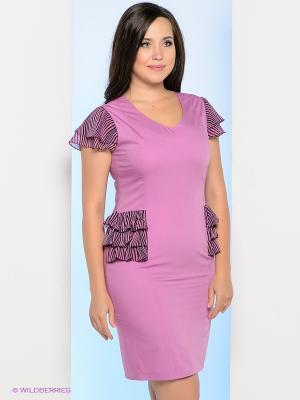 Платье Milana Style. Цвет: сиреневый