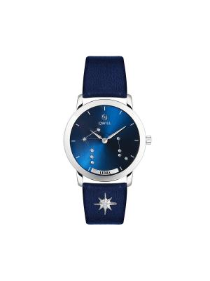 Часы ювелирные лимитированная коллекция Galaxy Libra-Весы QWILL. Цвет: синий