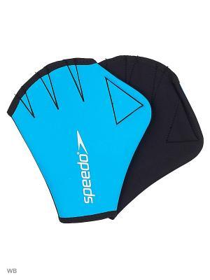 Перчатки для акваэробики Speedo. Цвет: голубой, черный