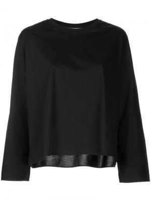 Расклешенная блузка Astraet. Цвет: чёрный