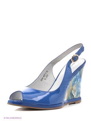 Босоножки EMILIA ESTRA. Цвет: синий