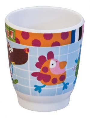 Чашечка Волчонок Ebulobo. Цвет: зеленый, белый, голубой, коричневый, красный, оранжевый