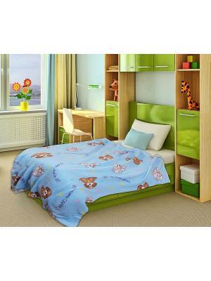 Плед Amore Mio,Baby ,0-3 лет,Simple Mio. Цвет: голубой