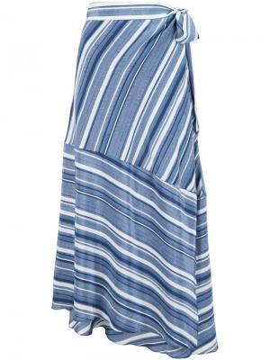 Полосатая юбка Jaquelle Sam & Lavi. Цвет: синий
