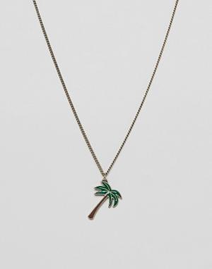 Classics 77 Ожерелье с подвеской-пальмой. Цвет: серебряный