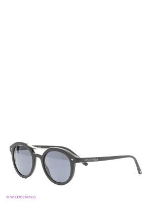 Солнцезащитные очки Giorgio Armani. Цвет: черный