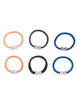 Резинка(6 шт) Bizon. Цвет: синий, оранжевый, черный