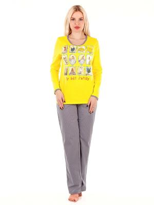 Пижама HELLO MODA!. Цвет: желтый