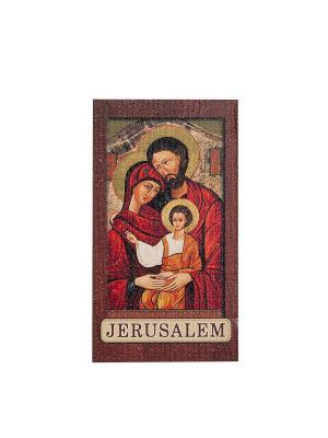 Магнит с ликом Святого Семейства Holy Land Collections. Цвет: бежевый