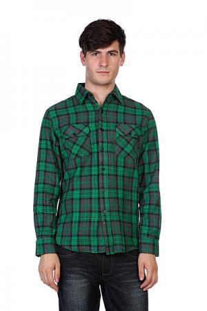 Рубашка в клетку  Hannibal Green/Grey/Black Plaid Creature. Цвет: зеленый