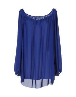 Блузка TRY ME. Цвет: ярко-синий
