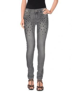 Джинсовые брюки FRANKIE MORELLO. Цвет: серый