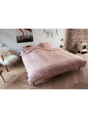 Комплект постельного белья Косичка розовый 200х220см SNURK. Цвет: розовый