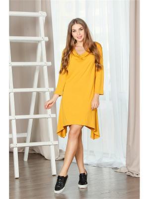 Платье-туника MONDIGO. Цвет: желтый, горчичный