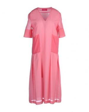 Платье до колена CARLO CONTRADA. Цвет: фуксия
