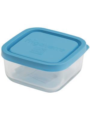 Контейнера стеклянные B335190-1  Bormioli Rocco Стеклянный контейнер Frigoverre квадратный 10*10 см,. Цвет: синий