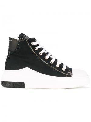 Хайтопы на шнуровке Cinzia Araia. Цвет: чёрный