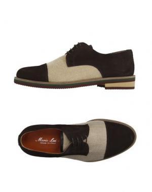 Обувь на шнурках MARIO LUISO. Цвет: темно-коричневый