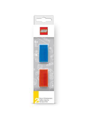 Набор точилок LEGO (2 шт., цвет: синий, красный) Lego.. Цвет: синий, белый, красный