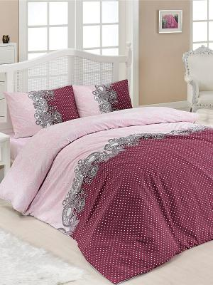 Комплект постельного белья ALTINBASAK. Цвет: бордовый, розовый