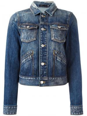 Джинсовая куртка Blk Dnm. Цвет: синий