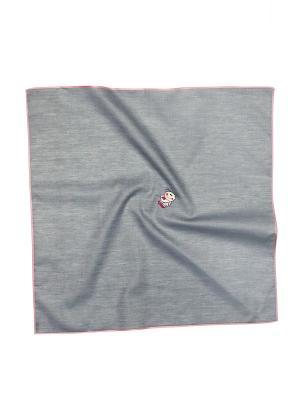 Платок 100% х/б 50*50 Passigatti. Цвет: серый