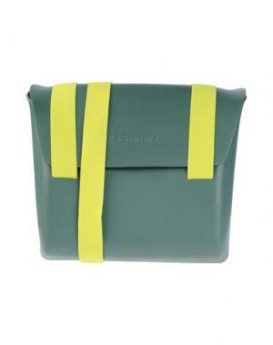 Сумка через плечо MH WAY. Цвет: темно-зеленый