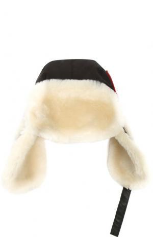 Утепленная шапка-ушанка Canada Goose. Цвет: черный