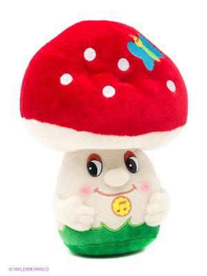 Мухомор Мухоморыч, озвученный, 19 см(MP-HH-R9039E) MAXITOYS. Цвет: красный, белый, зеленый