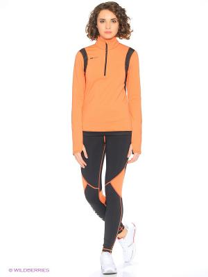 Тайтсы ROXY. Цвет: черный, оранжевый