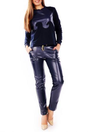 Костюм: джемпер, брюки Majaly. Цвет: темно-синий