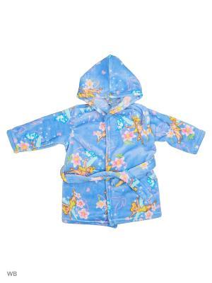 Халаты банные КВК. Цвет: голубой