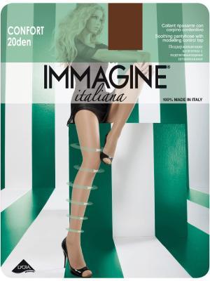 Колготки Immagine. Цвет: коричневый
