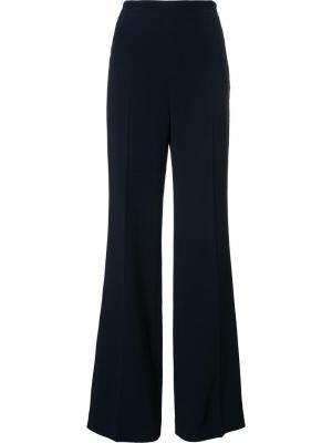Широкие брюки Roland Mouret. Цвет: синий