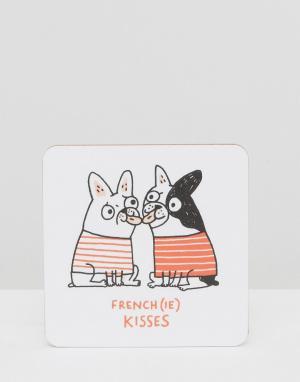 OHH DEER Подставка под напитки French Kisses. Цвет: мульти
